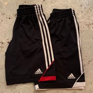 Pair of Adidas Jersey Shorts - Boys M